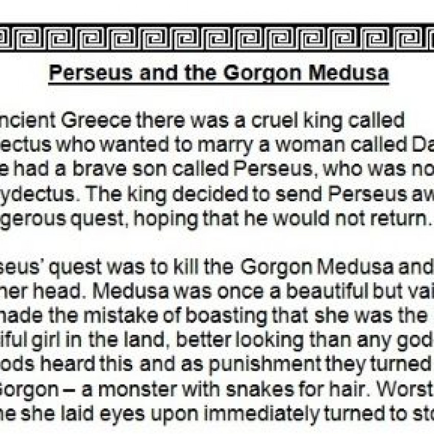 The Story of Perseus and Medusa  (Word)