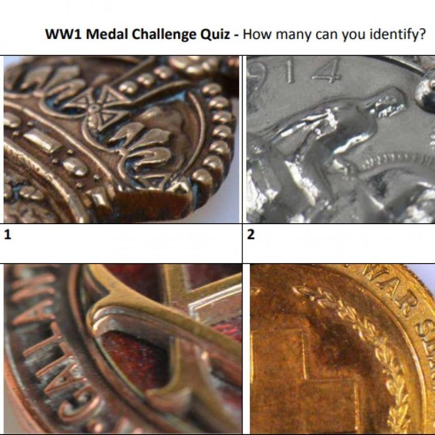 WW1 Medal Challenge picture quiz (PDF)