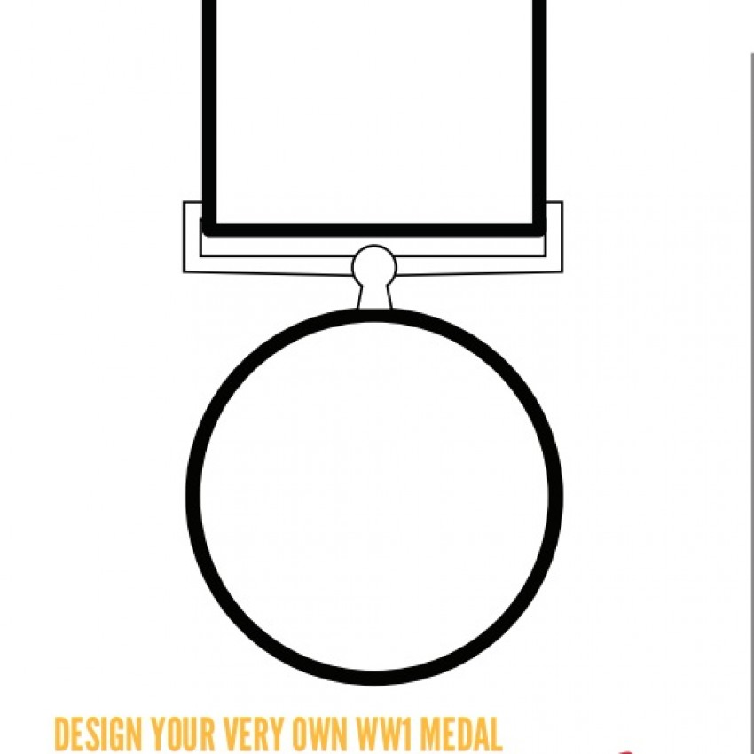 Draw your own medal - blank template (PDF)