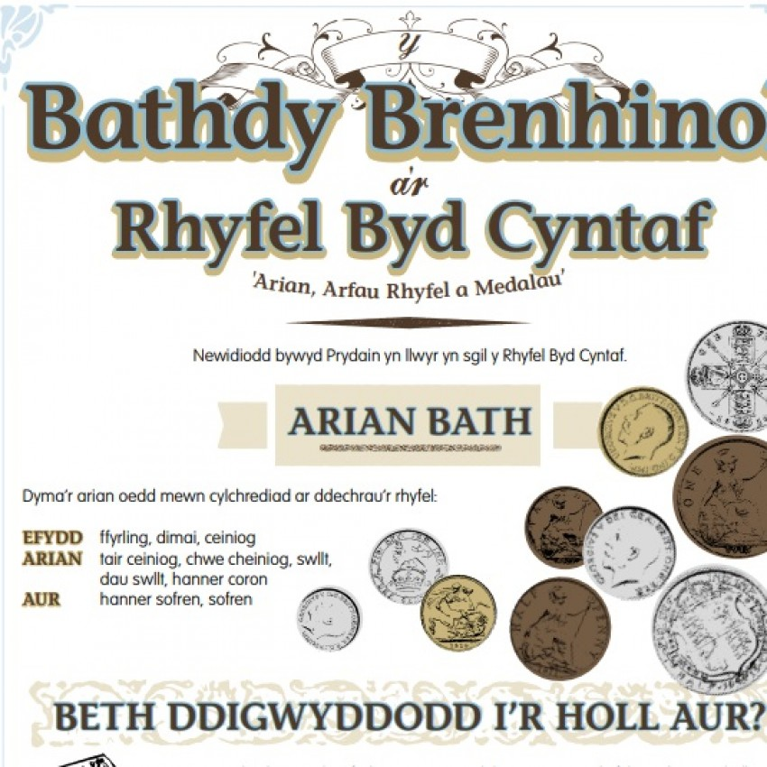Fact sheet on the Royal Mint during WW1 (Welsh language) (PDF)