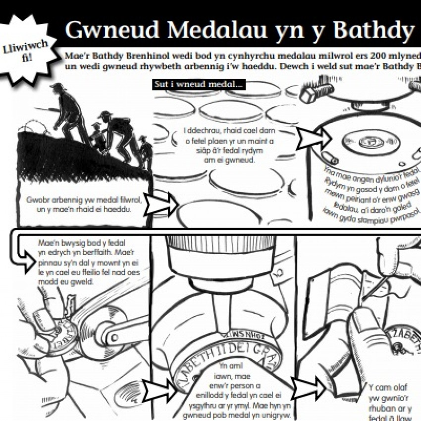 Royal Mint Museum 'Making Medals' fact sheet (Welsh language) (PDF)