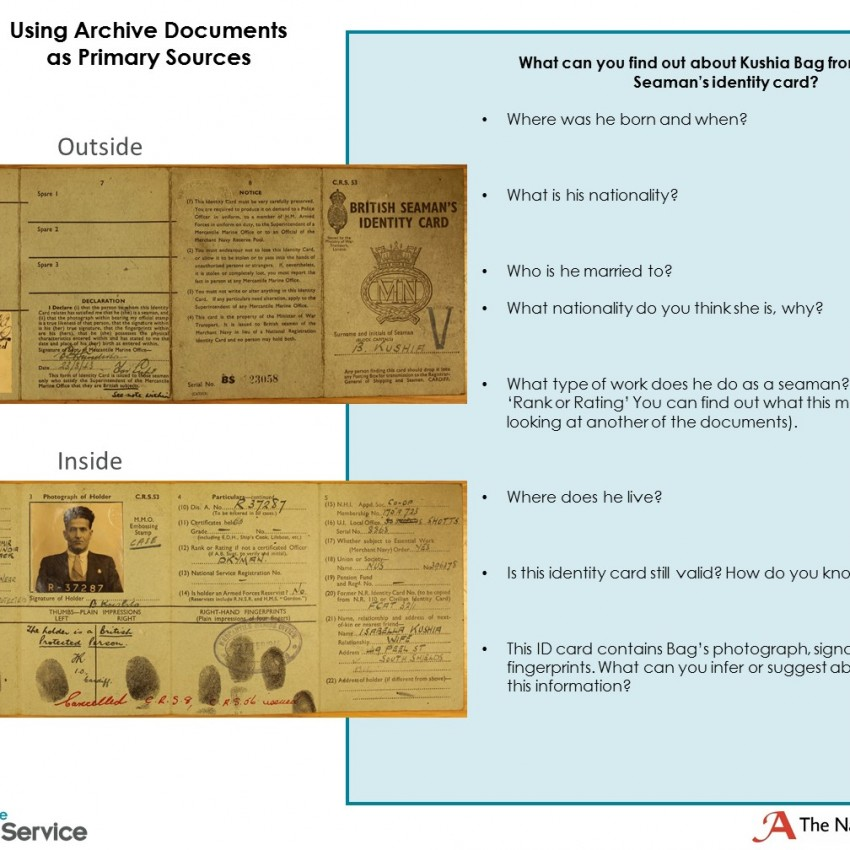 Wakefield Archive Document Activity Sheet
