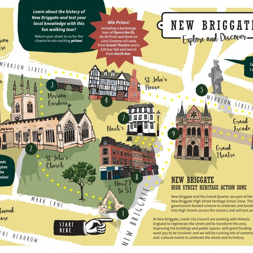 New Briggate (Leeds) Walking Trail